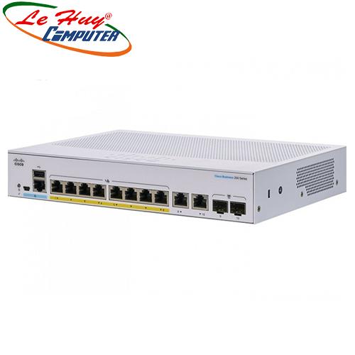 Thiết bị chuyển mạch Switch CISCOCBS250-8FP-E-2G-EU 8-port GE, Full PoE, Ext PS, 2x1G Combo