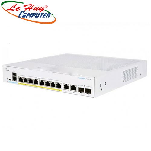 Thiết bị chuyển mạch Switch CISCO CBS350-8FP-E-2G-EU 8-port GE, Full PoE, Ext PS, 2x1G Combo