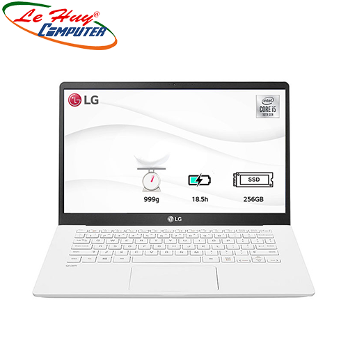 Máy Tính Xách Tay/Laptop LG Gram 14ZD90N-V.AX53A5 (i5 1035G7/8GB RAM/256GBSSD/14.0 inch FHD/FP/Trắng)