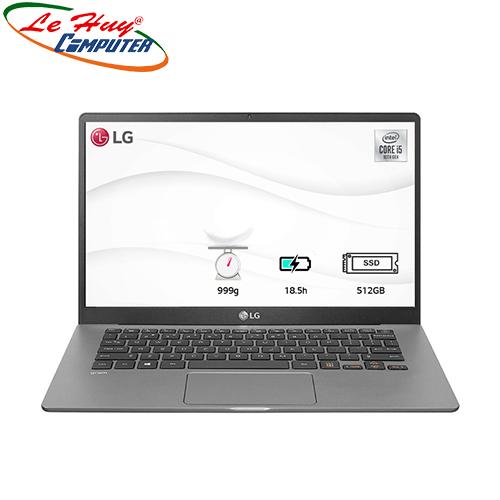 Máy Tính Xách Tay/Laptop LG Gram 14ZD90N-V.AX55A5 (i5 1035G7/8GB RAM/512GBSSD/14.0 inch FHD/FP/Xám Bạc)