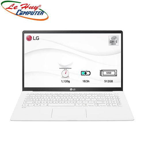 Máy Tính Xách Tay/Laptop LG Gram 15ZD90N-V.AX56A5 (i5 1035G7/8GB RAM/512GBSSD/15.6 inch FHD/FP/Trắng)