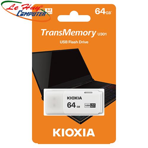 USB Kioxia 64GB USB 3.2 U301 White LU301W064GG4