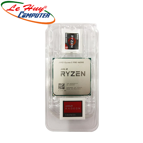 CPU AMD Ryzen 5 PRO 4650G MPK (3.7 GHz turbo upto 4.2GHz / 11MB / 6 Cores, 12 Threads / 65W / Socket AM4)