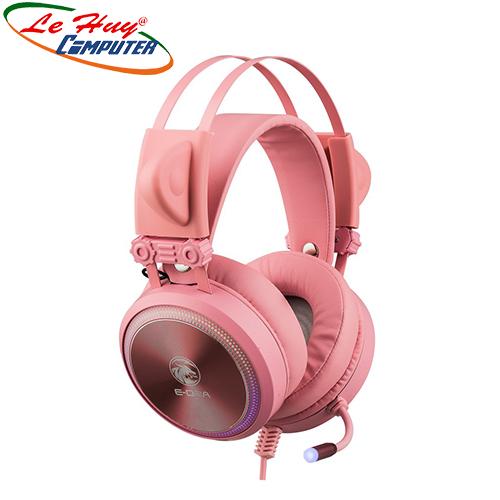 Tai nghe E-Dra EH412 Pro Pink 7.1 Led RGB USB