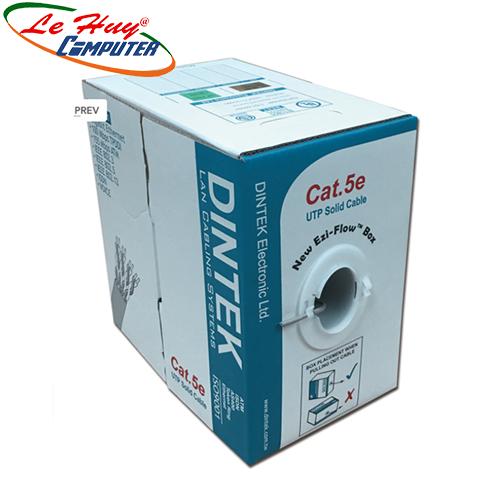 Cable Dintek CAT5E UTP, 4 pair, 24AWG, 100m/box