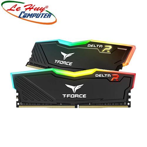 Ram Máy Tính TEAM T-Force Delta RGB DDR4 16GB (8GBx2) 3200 (tặng 1 fan UX100 ARGB)