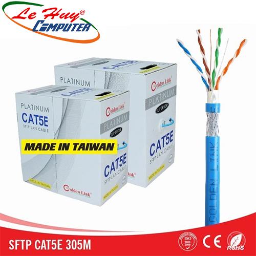 CÁP MẠNG GOLDEN LINK - 4 pair SFTP CAT5 (xanh dương,chống nhiễu) - 305m MADE IN TAIWAN
