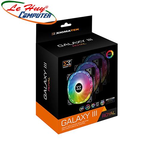 Fan Case Xigmatek GALAXY III ROYAL - BR120 ARGB (EN46119)