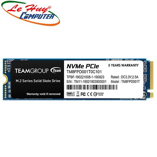 Ổ cứng máy tính SSD TEAM MP33 PRO M.2 2280 1TB PCIe 3.0 x4 with NVMe 1.3 (TM8FPD001T0C101)