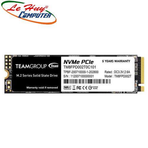 Ổ cứng máy tính SSD TEAM MP33 PRO M.2 2280 2TB PCIe 3.0 x4 with NVMe 1.3 (TM8FPD002T0C101)