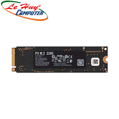 Ổ cứng SSD Crucial P5 1TB NVMe 3D-NAND M.2 PCIe Gen3 x4 CT1000P5SSD8