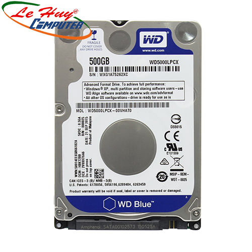 HDD - Ổ Cứng Laptop Western Blue 500GB 2.5