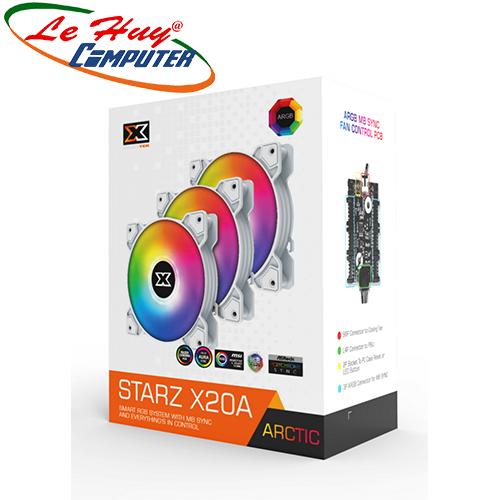 Fan Case Xigmatek STARZ - X20A ARTIC ARGB (EN46782) - 3 PACK + CONTROLLER