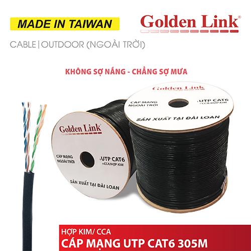 CÁP MẠNG GOLDEN LINK - 305m UTP CAT6 Platinum ngoài trời MADE IN TAIWAN