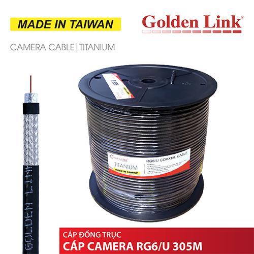 CÁP ĐỒNG TRỤC, CÁP CAMERA GOLDENLINK RG6/U 305M MADE IN TAIWAN