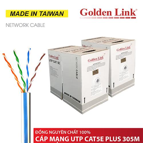 CÁP MẠNG GOLDEN LINK - 305m CAT5e UTP PLUS ĐỒNG NGUYÊN CHẤT - chuyên bootrom MADE IN TAIWAN