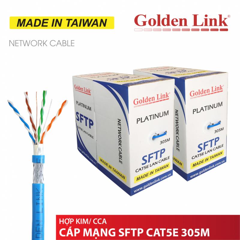 CÁP MẠNG GOLDEN LINK- 305m CAT5e FTP PLUS ĐỒNG NGUYÊN CHẤT-chuyên bootrom MADE IN TAIWAN