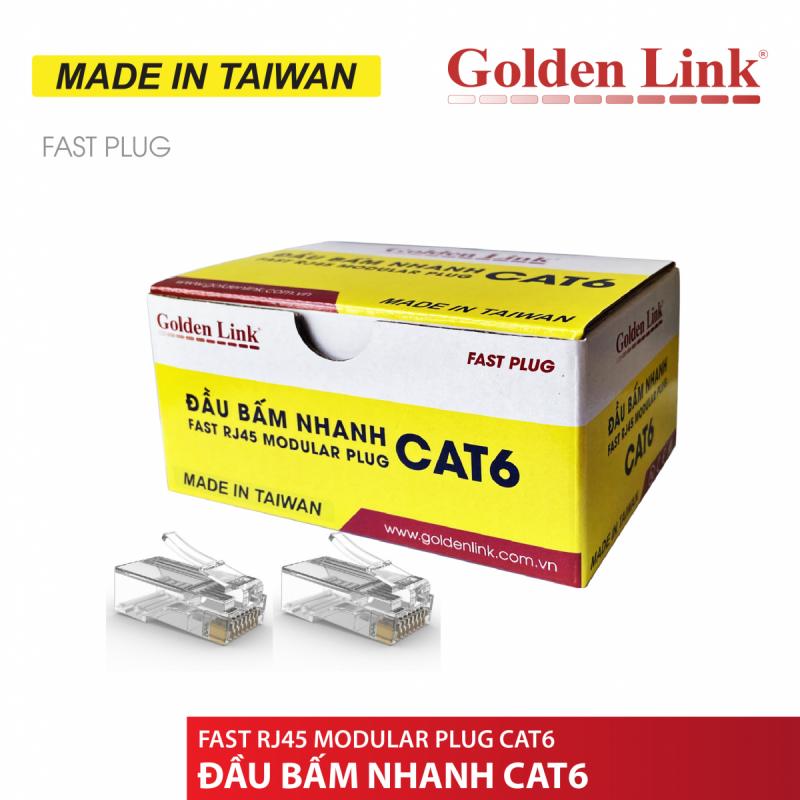Đầu bấm mạng Nhanh(xuyên thấu) CAT6 Golden Link TAIWAN GL-20056