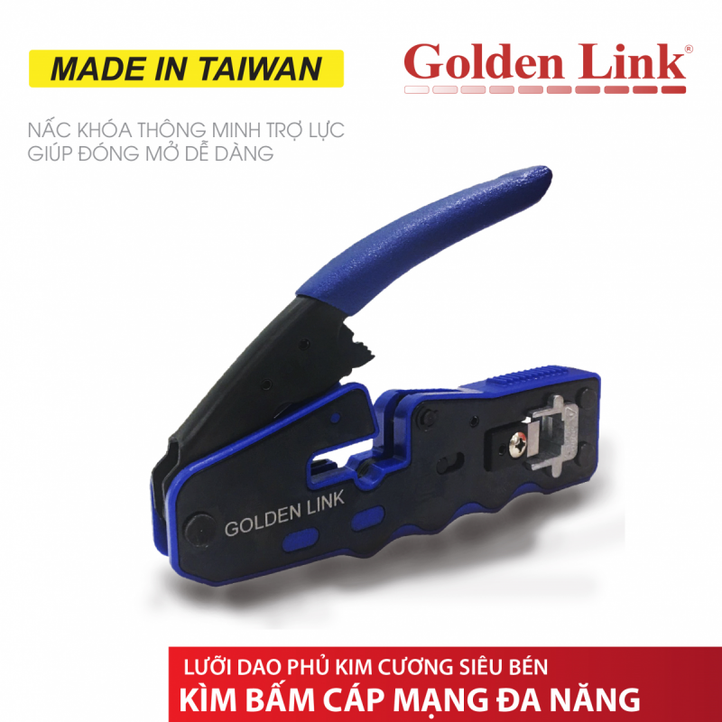 Kìm bấm dây mạng Goldenlink RJ45 MADE IN TAIWAN