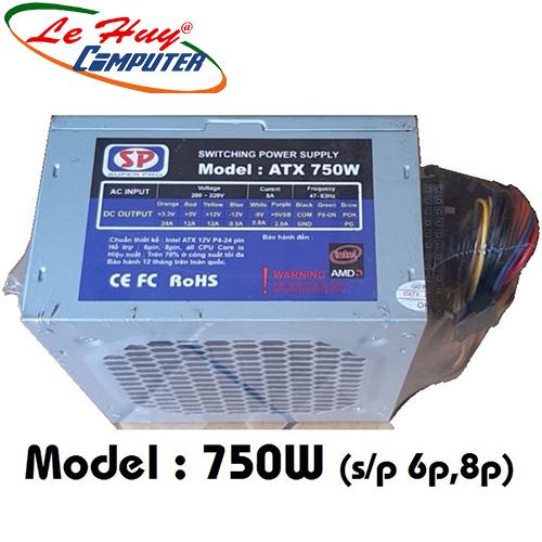 Nguồn máy tính SP 750W BH 12 Tháng