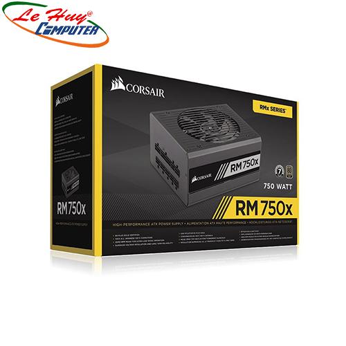 Nguồn máy tính Corsair RM750X(9020179) - 750W - 80 Plus Gold - Full Modular