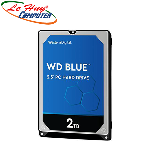 HDD - Ổ Cứng Laptop WD 2TB Blue 2.5 inch 5400RPM SATA3 128MB Cache (WD20SPZX)