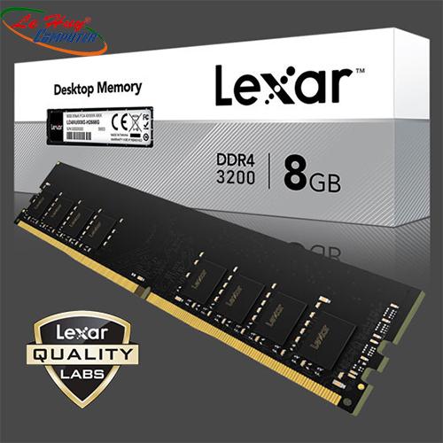 Ram máy tính LEXAR 8G 3200MHz DDR4 Không Tản Nhiệt