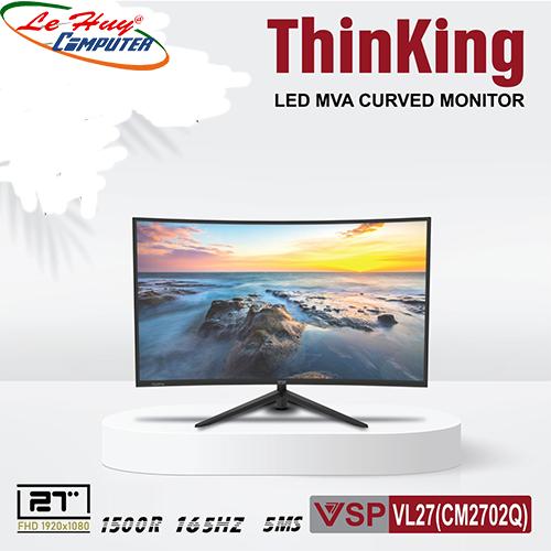 """Màn hình LCD 27"""" VSP VL27 (CM2702Q) FHD 1500R/165Hz Gaming Cong"""