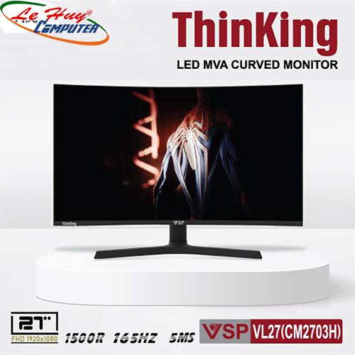 """Màn hình LCD 27"""" VSP VL27 (CM2703H) FHD 1500R/165Hz Gaming Cong"""