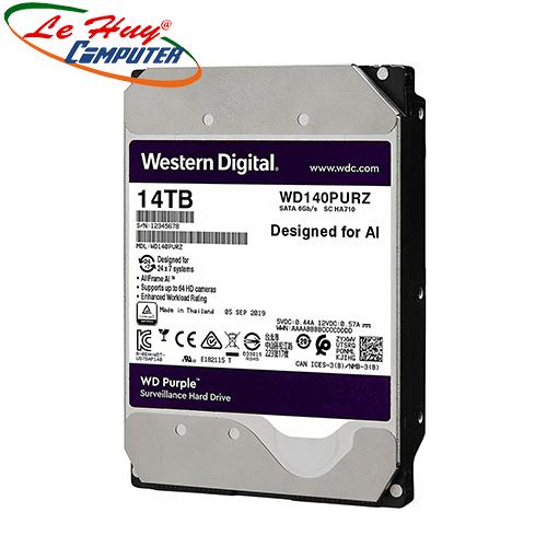Ổ Cứng HDD Western Purple 14TB 3.5 inch, 7200RPM, SATA3, 512MB Cache (WD140PURZ)