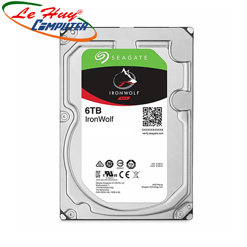 Ổ cứng HDD Seagate IronWolf 6TB 3.5 inch SATA III 256MB Cache 5400RPM ST6000VN001