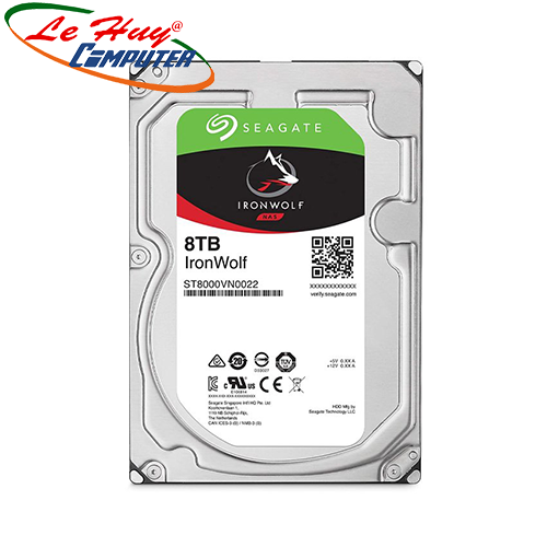 Ổ cứng HDD Seagate IronWolf 8TB 3.5 inch SATA III 256MB Cache 7200RPM ST8000VN004