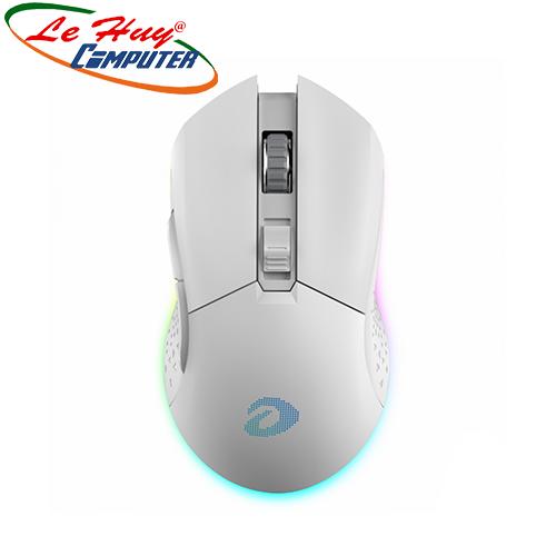 Chuột Không Dây Gaming Dareu EM901 RGB Trắng