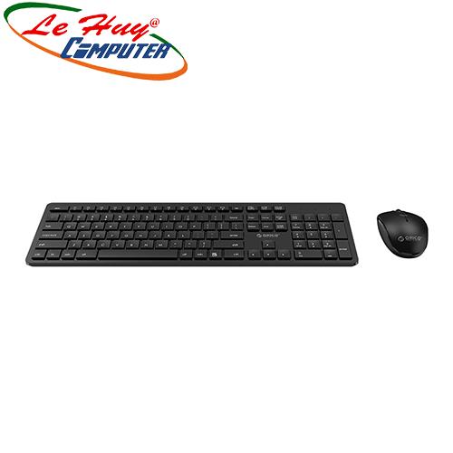 Combo Bàn phím chuột máy tính không dây Orico WKM01-BK